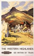 Western Highlands Vintage Railway Travel Poster Print Near Ballachulish in Scotland British Railways